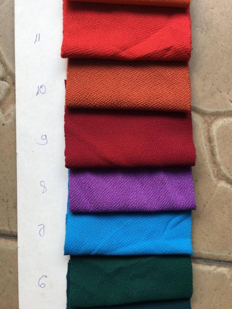 Màu vải thun Cát Misa - Vải Vân Sinh