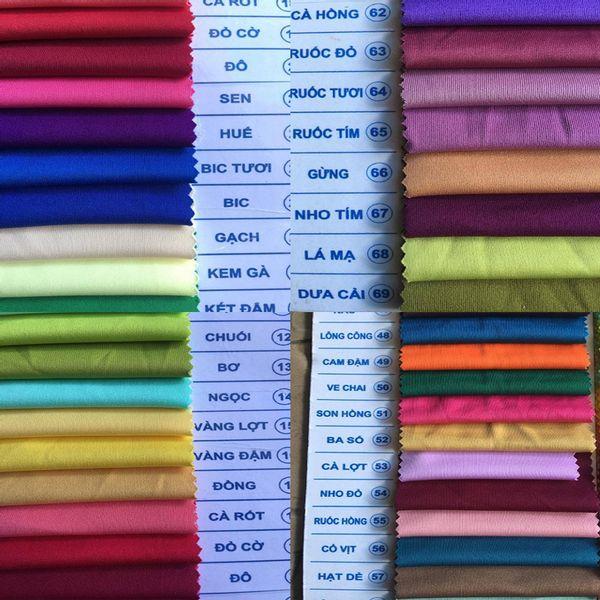 Bảng màu vải thun Interlock - Vải Vân Sinh