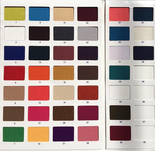 Bảng màu vãi thun Poly 2 da - Vải Vân Sinh