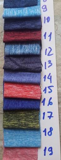Bảng màu vải thun 4 chiều đốm - Vải Vân Sinh
