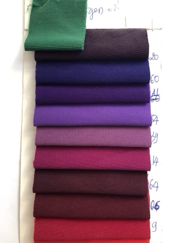 Bảng màu vải thun sọc tăm - Vải Vân Sinh