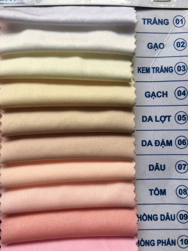 Bảng màu vải thun 4 chiều thể thao - Vải Vân Sinh