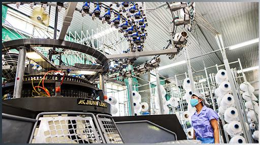 Máy Dệt Nhuộm Căng Kim Công Nghệ Nhật Bản -  Vải Vân Sinh