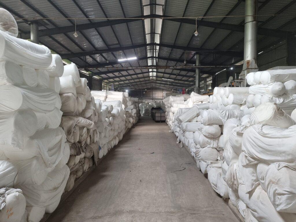 Nhà xưởng Vải Vân Sinh thoáng mát rộng rãi