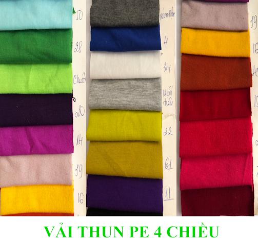 Vải thun PE - Vải thun cao cấp, chất lượng giá sỉ và rẻ