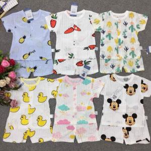 Vải may quần áo cho bé
